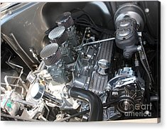 55 Bel Air Engine-8202 Acrylic Print by Gary Gingrich Galleries