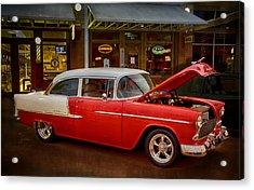 55 Chevy Belair Acrylic Print by Saija  Lehtonen