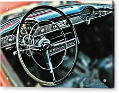'55 Dash Acrylic Print by Victor Montgomery