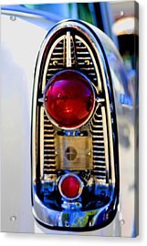 56 Chevy Tail Acrylic Print by Terry Thomas