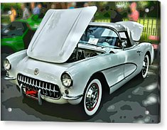 Acrylic Print featuring the photograph '56 Corvette by Victor Montgomery