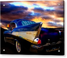 57 Belair Hardtop Cruise Is Done Acrylic Print