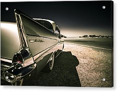 57 Chevrolet Bel Air Acrylic Print by motography aka Phil Clark