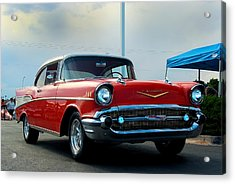 57 Chevy Bel-aire Acrylic Print by Don Durante Jr