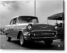57 Chevy Bel-aire In Bw Acrylic Print by Don Durante Jr