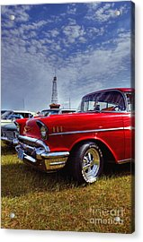 Acrylic Print featuring the photograph 57 Chevy Belair by Trey Foerster