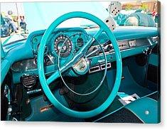 57 Chevy Belair Turquoise Acrylic Print