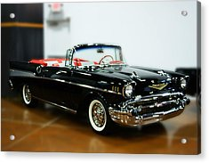 Acrylic Print featuring the photograph 57 Chevy Convertible  by B Wayne Mullins