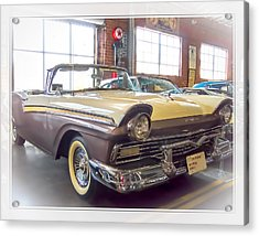 57 Ford Fairlane Acrylic Print by Steve Benefiel