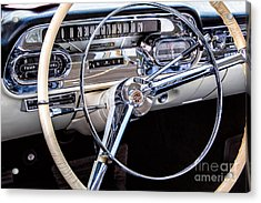 58 Cadillac Dashboard Acrylic Print by Jerry Fornarotto