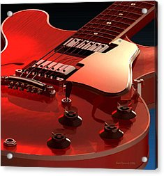 '59 Dot Neck Gibson Es-335 Acrylic Print by Dan Terry
