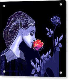 590 Flavour Of The Rose Acrylic Print by Irmgard Schoendorf Welch