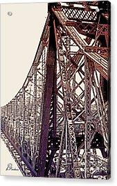 59th Street Bridge - Nyc Acrylic Print by Linda  Parker