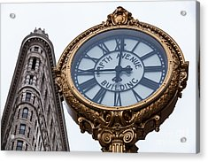 5th Avenue Clock Acrylic Print by John Farnan