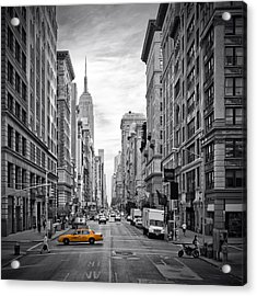 New York City 5th Avenue Acrylic Print by Melanie Viola