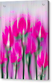 Acrylic Print featuring the digital art 6 1/2 Flowers by Frank Bright