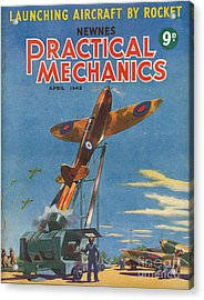 1940s Uk Practical Mechanics Magazine Acrylic Print by The Advertising Archives