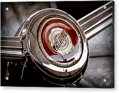 1949 Chrysler Town And Country Convertible Steering Wheel Emblem Acrylic Print