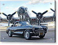 Acrylic Print featuring the photograph 1957 Chevrolet Corvette by Jill Reger