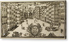 An Illustration Of 18th Century Naples Acrylic Print