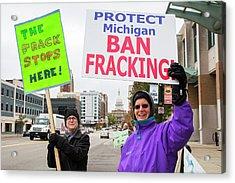 Anti-fracking Protest Acrylic Print