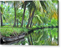 Asia, India, Kerala (backwaters Acrylic Print