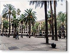 Barcelona - Urban Scene Acrylic Print