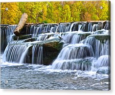 Berea Falls Acrylic Print by Frozen in Time Fine Art Photography