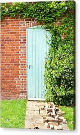 Blue Door Acrylic Print by Tom Gowanlock