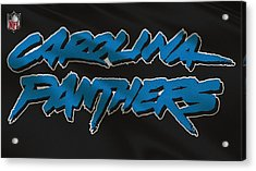 Carolina Panthers Uniform Acrylic Print by Joe Hamilton
