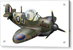 Cartoon Illustration Of A Royal Air Acrylic Print by Inkworm