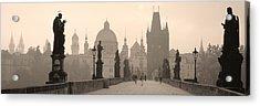 Charles Bridge Prague Czech Republic Acrylic Print by Panoramic Images
