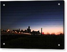 City Of Dallas Acrylic Print by Tinjoe Mbugus