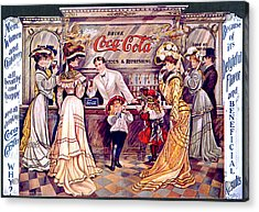 Coca - Cola Vintage Poster Acrylic Print by Gianfranco Weiss