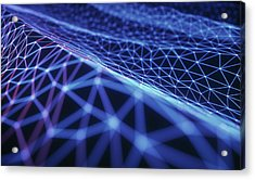 Connecting Lines Acrylic Print by Ktsdesign/science Photo Library