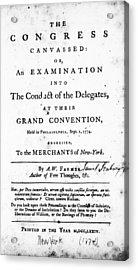 Continental Congress, 1774 Acrylic Print by Granger