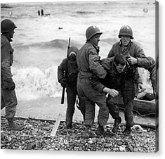 D-day Invasion Acrylic Print by Underwood Archives