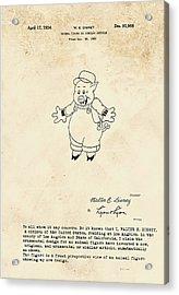 Disney Pig Patent Acrylic Print