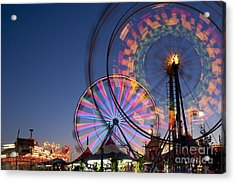 Evergreen State Fair With Ferris Wheel Acrylic Print