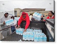 Flint Bottled Drinking Water Distribution Acrylic Print