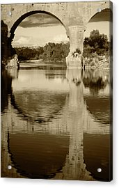 France, Languedoc, Gard, View Of Pont Acrylic Print