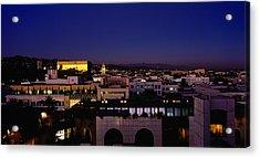 High Angle View Of A Cityscape Acrylic Print