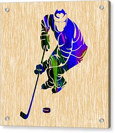 Hockey Acrylic Print by Marvin Blaine