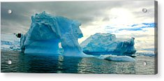 Acrylic Print featuring the photograph Icebergs by Amanda Stadther