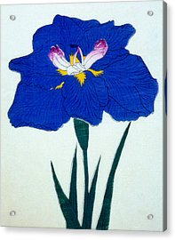 Japanese Flower  Acrylic Print by Japanese School
