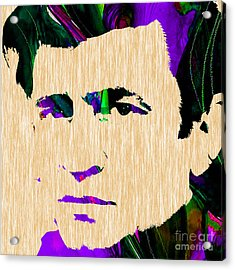 Johnny Cash Collection Acrylic Print by Marvin Blaine