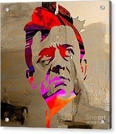 Johnny Cash Acrylic Print by Marvin Blaine
