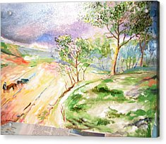 Acrylic Print featuring the painting Landscape by Egidio Graziani