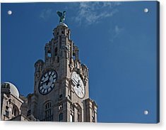 Liverpool's World Heritage Status Waterfront Buildings Acrylic Print by Ken Biggs