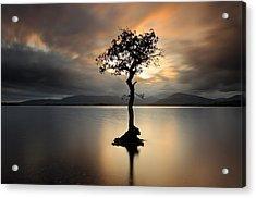 Loch Lomond Sunset Acrylic Print by Grant Glendinning